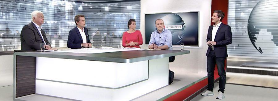 Daniel Schüler im n-tv-Nachrichtenstudio