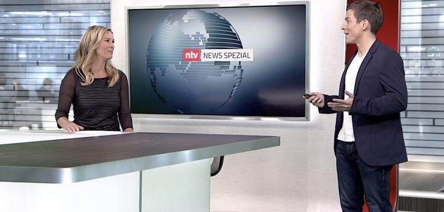 n-tv-Netzreporter Daniel Schüler mit Birgit von Bentzel