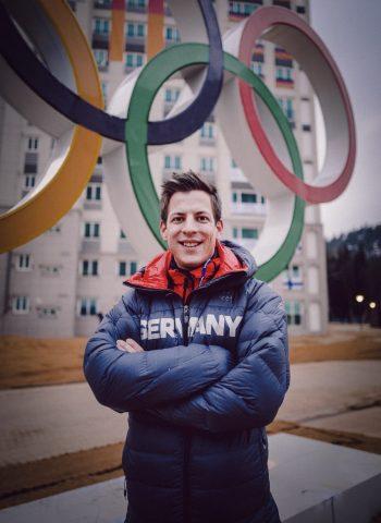 Daniel in PyeongChang bei den Olympischen Winterspielen 2018 in Südkorea. | Foto: Marvin Ronsdorf